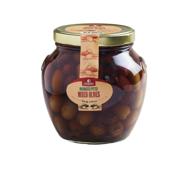 marinated pitted mixed olives (1)